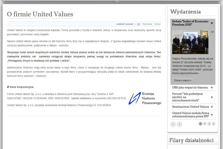 United Values - O firmie