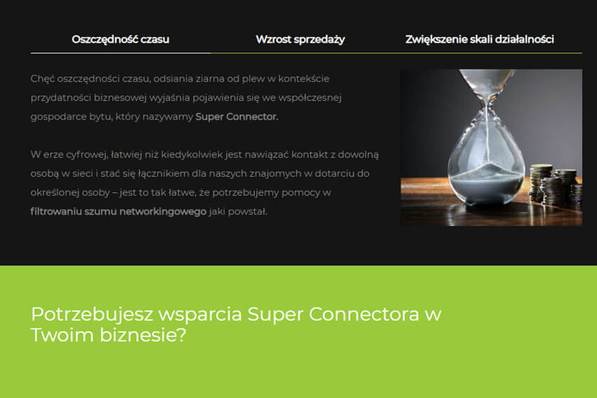 Superconnector - Co zyskujesz
